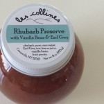 les collines flavor: rhubarb preserve with vanilla bean and earl gray